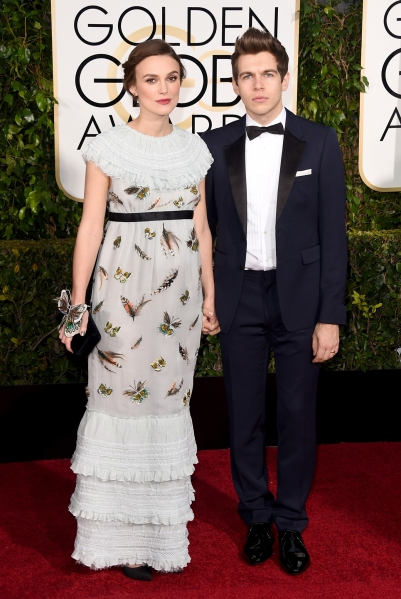 13. Keira Knightley, in custom Chanel, and James Righton
