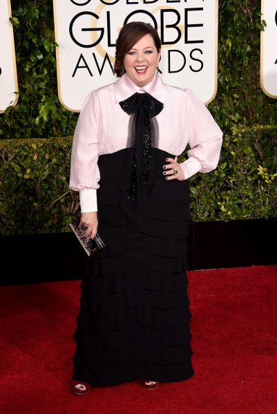 7. Melissa McCarthy, with Carla Amorim and Doves by Doron Paloma jewels