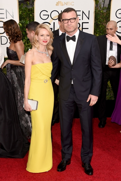 10.Naomi Watts, in Gucci, with Bulgari jewels and bag, and Liev Schreiber, in Prada