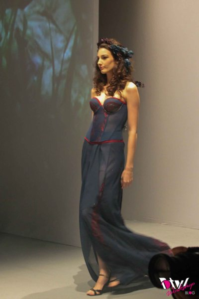 My favourite piece at the Poly U intimates fashion show.  This looks like it can go from bedroom to the red carpet ^^
