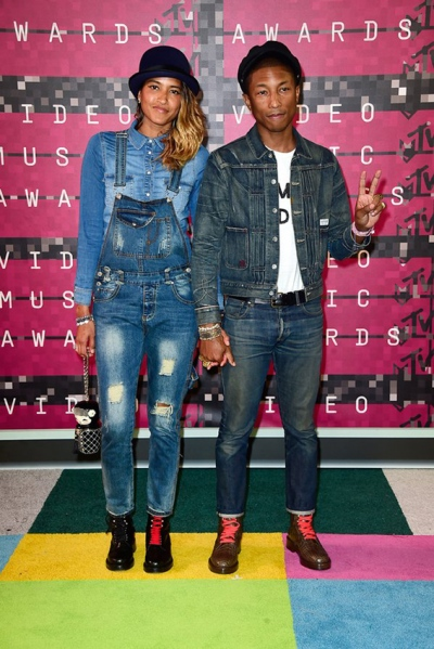 Lasichan and Pharell Williams Photo by Getty Images