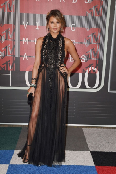 Chrissy Teigen in Marchesa copy Photo: getty