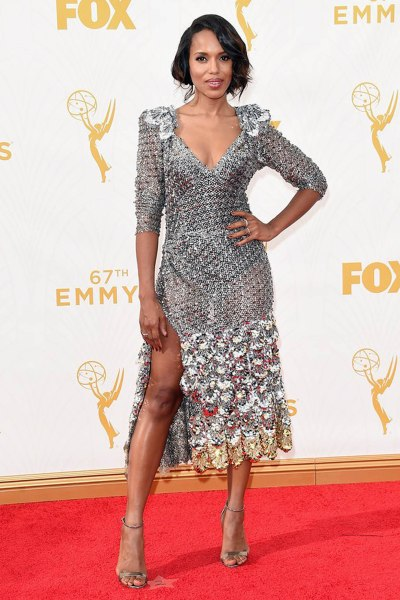 Kerry Washington in a Marc Jacobs dress, Casadei shoes, and Harry Winston jewelry Source: www.vogue.com