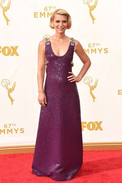 Worsed Dressed -Claire Danes in a Prada dress and Cartier jewelry